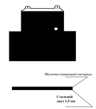 Схема футеровки заднего экрана двигателя ВАЗ-2123.