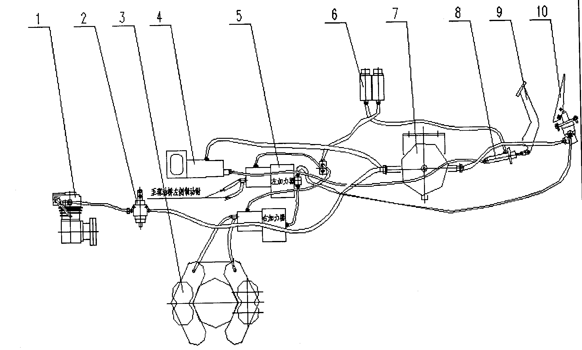 Схема пневматической системы тормозов паз