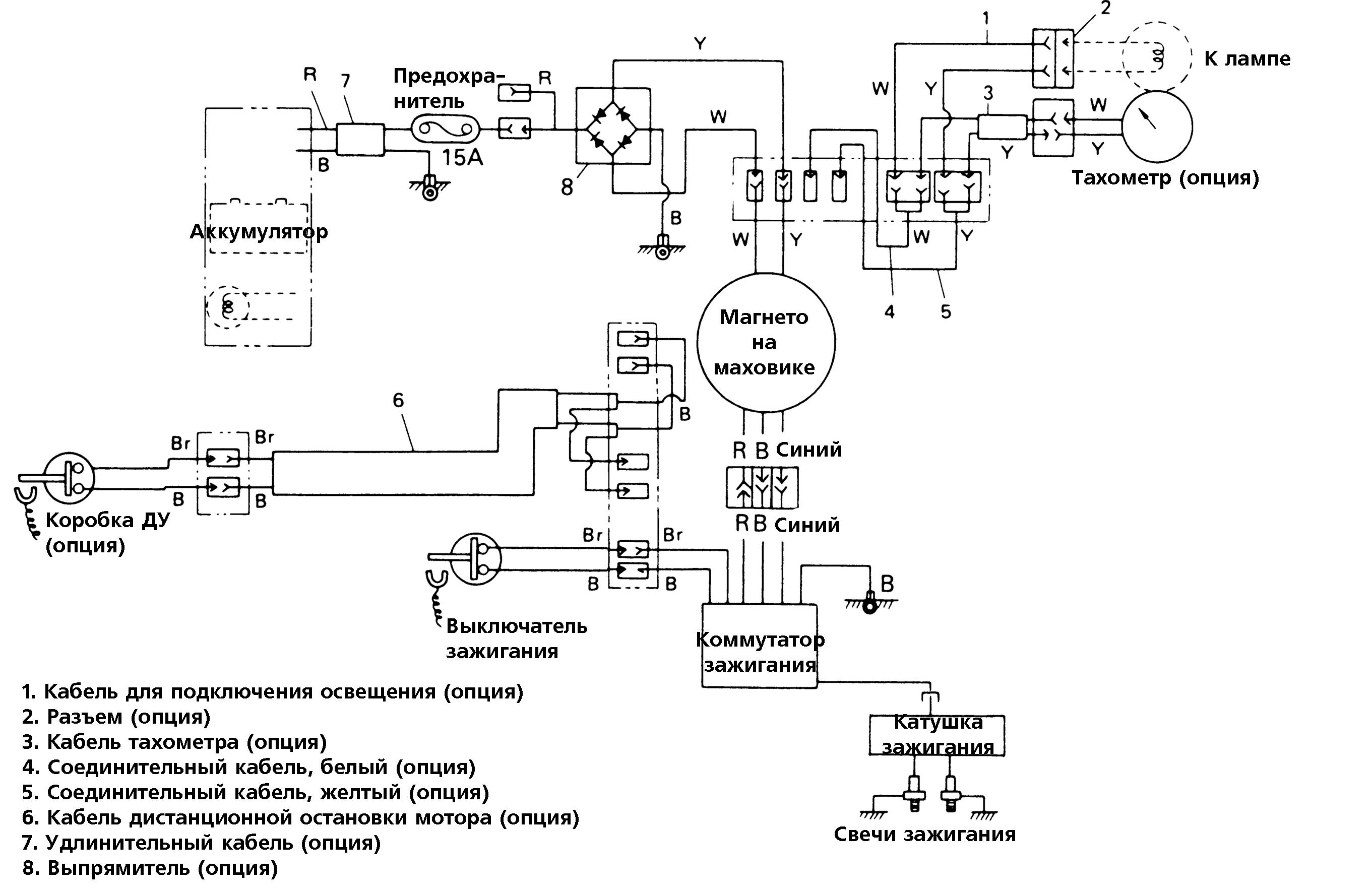 схема подключения электромотора для лодки