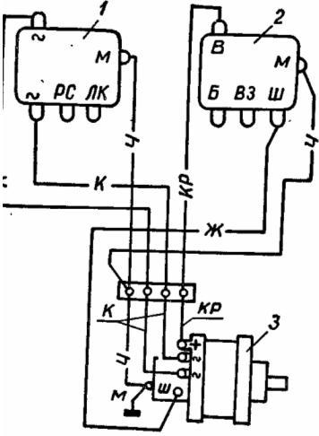 Схема подключения генератора заз